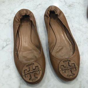 Tory Burch Leather Logo flats